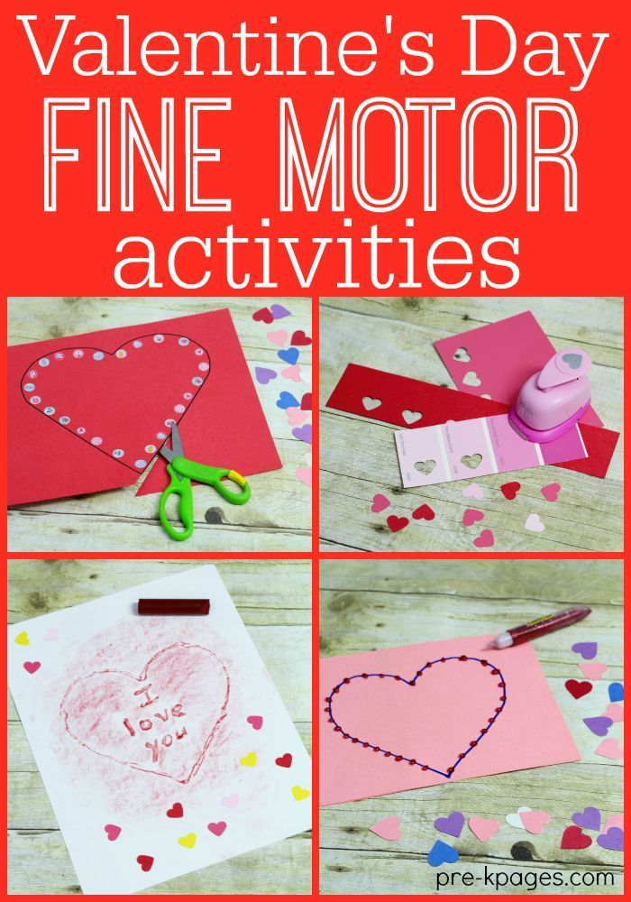 Valentine Fine Motor Activities for Preschoolers  - repinned by @PediaStaff – Please Visit ht.ly/63sNtfor all our pediatric therapy pins