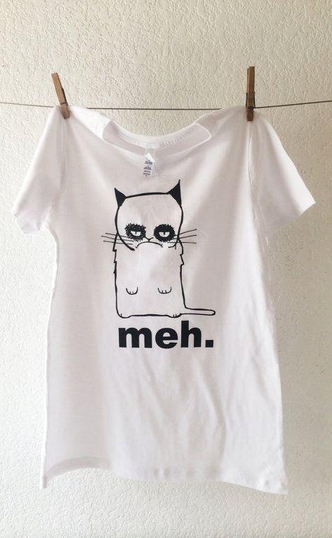 Meh Grumpy Cat T-shirt