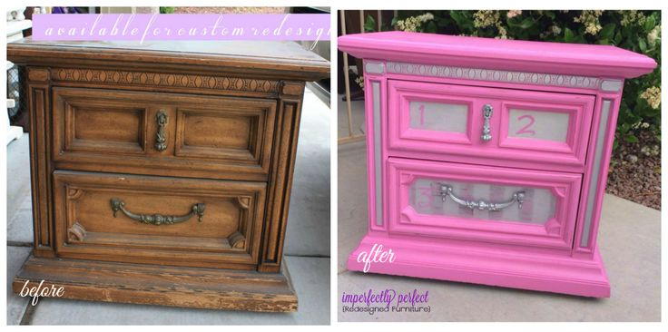 Antique solid wood nightstand 2 drawer lots of fun for Little girls nightstand