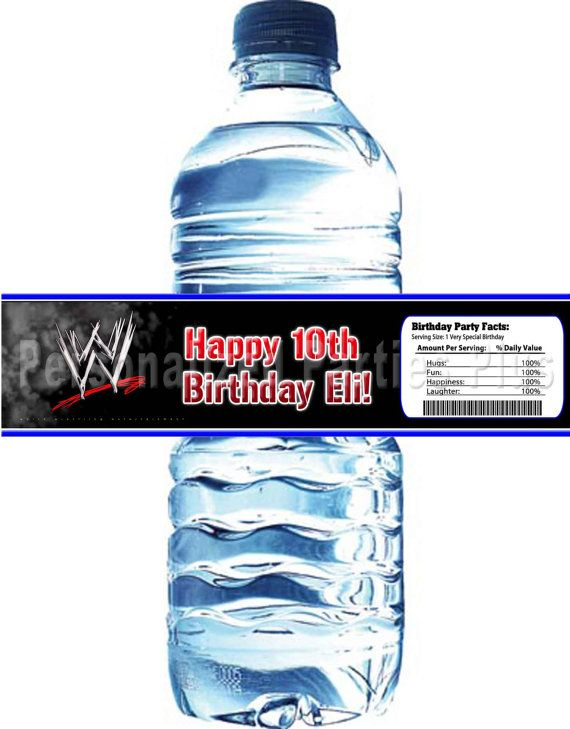 Wwe Water Bottle Labels Download Amp Printable By