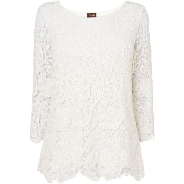 Lace Blouse 3 4 Sleeve