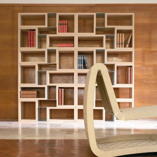 17 migliori idee su librerie su pinterest scaffali soggiorno for Librerie componibili calligaris