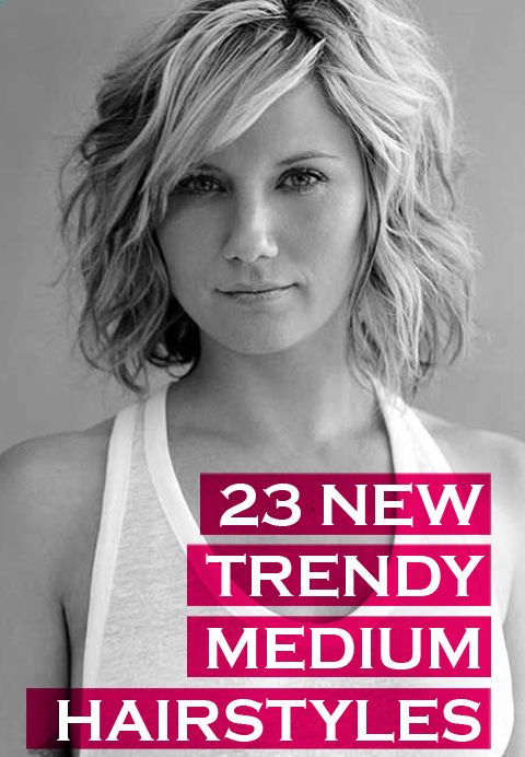 23 Trendy Medium Haircuts for Women : CircleTrest