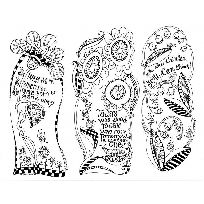101 best Bookmarks Coloring Pages for Adults images on Pinterest - bookmark coloring pages