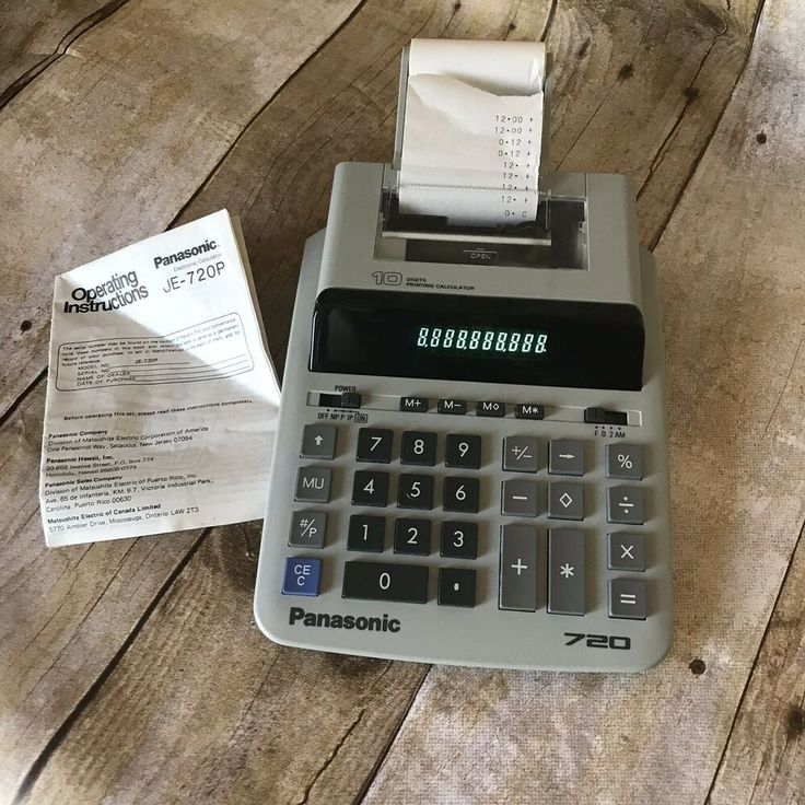 Desktop Or Portable Printing Calculator Clean Tested Works Non Add Print Key Right Shift Key 4 Position Printing Calculators Desktop Calculator Panasonic
