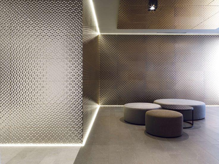 High tech wall tiles artis bronze 33 3x100 cm artis for Carrelage porcelanosa