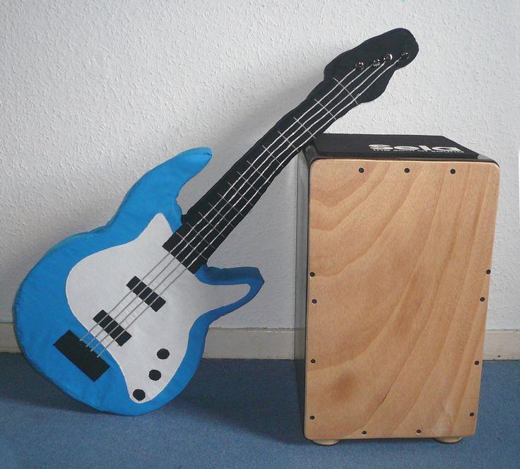 Gitarren Kissen - E-Bass Kissen