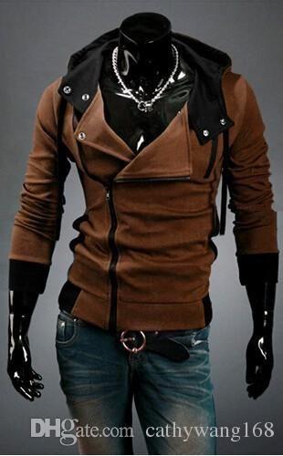 2016 Korean Men'S Hoodies Sweatshirt New Fashion Men Assassins Creed Jacket  Slim Stylish Casual Cardigan Jacket