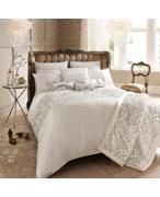 View product Kylie Minogue Eva oyster bed linen range