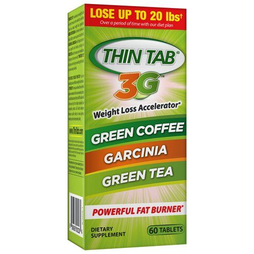thin tab 3g weight loss accelerator - 60 tablets