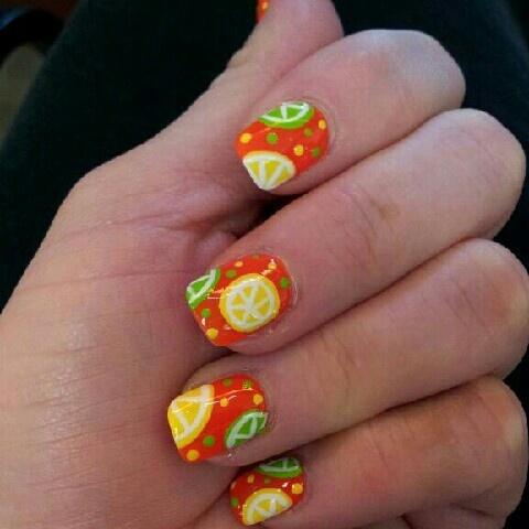 71 best nail art images on pinterest nail scissors pretty nails citrus nail art belladivasalon nailartnaildesignorangelimeslemons prinsesfo Gallery