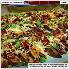 Goodness me. First a recipe for loaded bacon and cheese wedges AND a cheesesteak sliders recipe. Both syn free. Both Slimming World friendly. Eat well! Remember, at www.twochubbycubs.com we post a new Slimming World recipe nearly every day. Our aim is good food, low in syns and served with enough laughs to make this dieting business worthwhile. Please share our recipes far and wide! We've also got a facebook group at www.facebook.com/twochubbycubs - enjoy!