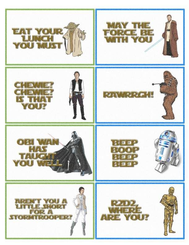 Star Wars Lunchbox Notes