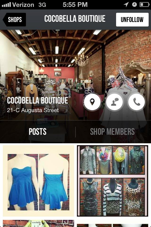 Follow our shop on The Nearby App for iPhones