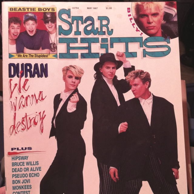 Star Hits magazine. I found this in my basement. There's an article on how awesome of a singer Bruce Willis is. Ha ha!!Bedroom Quotes, Duran Duran, Hit Magazines, Wanna Be Duranarchi, Stars Hits Lov