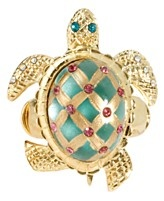 Betsey Johnson Ring, Gold Tone Turtle Stretch Ring