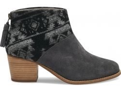 Šedo-černé dámské kotníkové boty Toms Tribal Leila Bootie