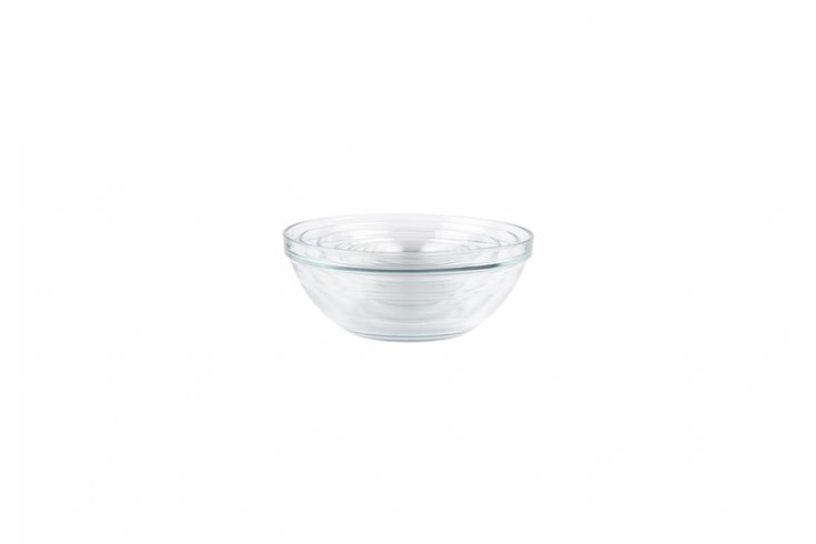 The Duralex Lys Stackable 10-Piece Bowl Set has bowls sized for mixing and prep; $31.96 for the set on Amazon.