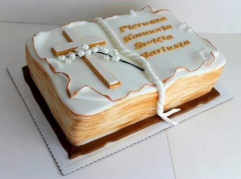 Communion book cake