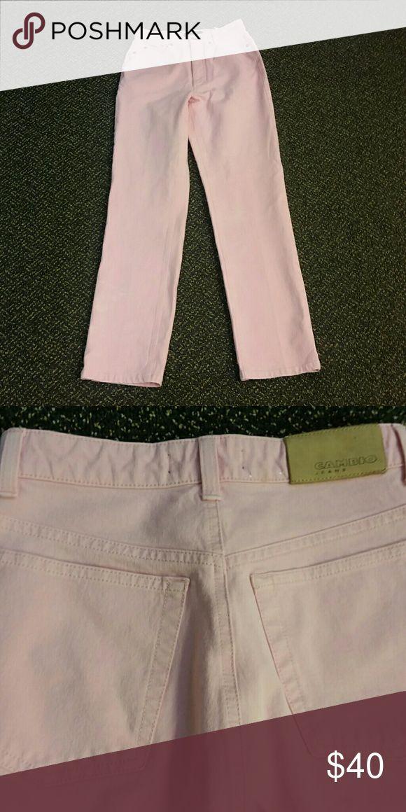 Light Pink Cambio Jean Light Pink stretchy straight leg jean. High-waisted Cambio Jeans Straight Leg