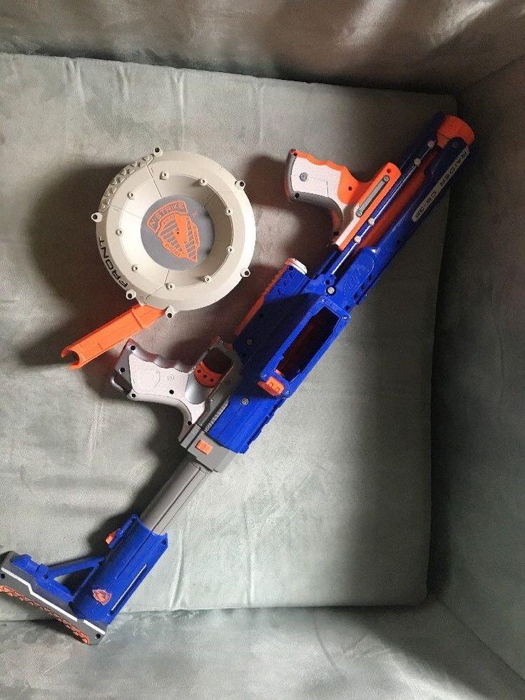 2008 Hasbro Nerf N-Strike Raider Rapid Fire CS-35 Blaster W/ DRUM Clip No Darts  | eBay