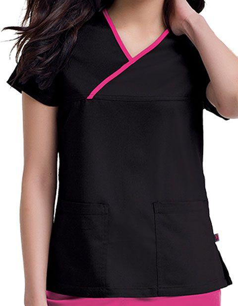 Urbane Women's Mandi Crossover Solid Nursing Scrub Top