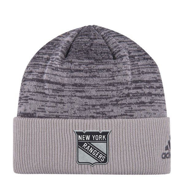 New York Rangers adidas Travel   Training Cuffed Knit Hat - Gray   NewYorkRangers 40bfde37c095