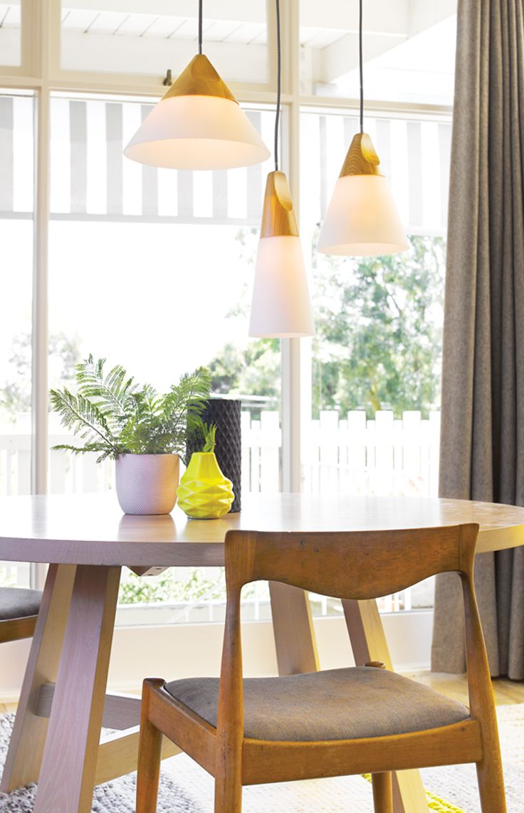Odense 1 light large coolie, small cone and small coolie pendant in ash and frosted glass.