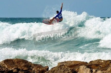 Wave surfer surfing wave at sea. via MuralsYourWay.com