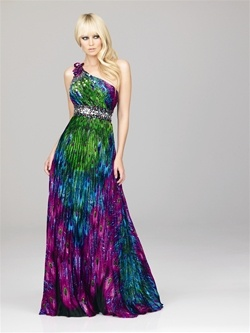 House of Brides - Evenings by Allure - Special Occasion Dress - STYLE - A542: Evening Dresses, Peacock Dress, Dresses Style, Bridesmaid Dresses, Peacock Wedding, Gowns, One Shoulder, Prom Dresses, Peacock Colors