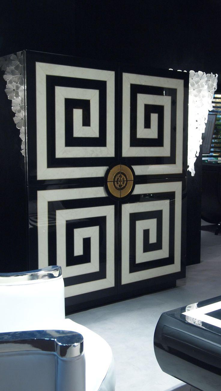 greek key armoire