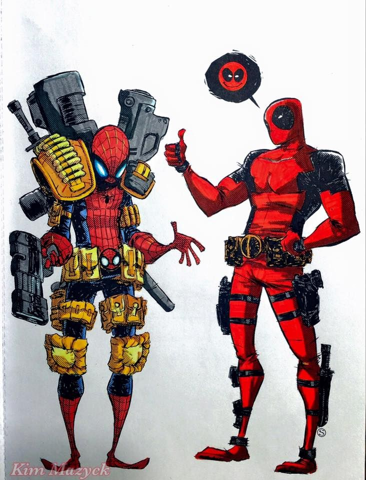 Coloring Book Color Your Own Deadpool