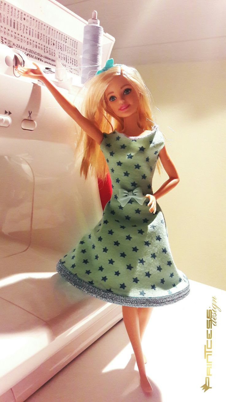 Barbiekleid selbst nähen