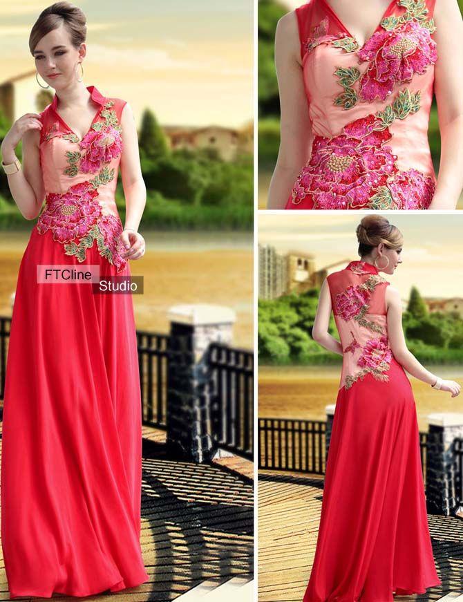 Red Evening Dress #red #evening