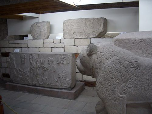 Some of the large collection of the Museum of Anatolian Civilizations- from the Hittites.