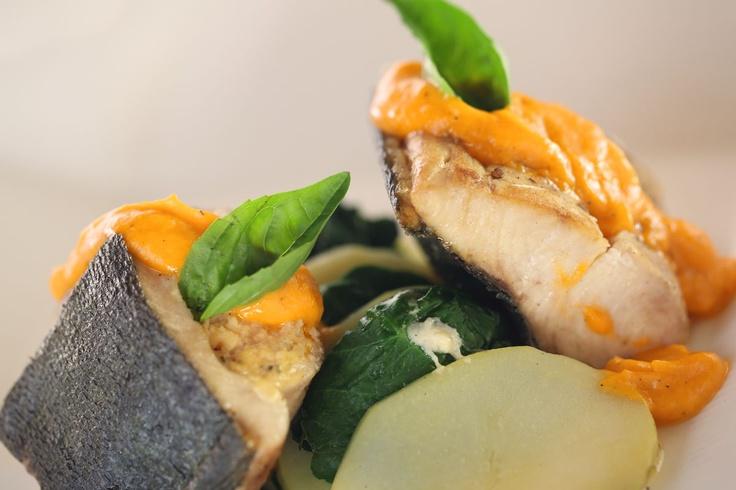 Mahi Mahi filled with salmon mousse and tomato coulis sauce   #Food #Italian #Cuisine #Kuta #Bali #foodporn