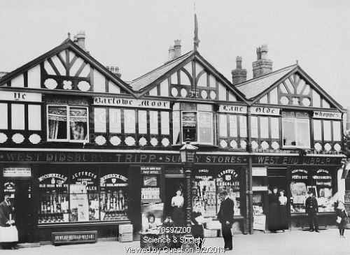 The Old Shops on Barlow Moor Road, Didsbury, c1905