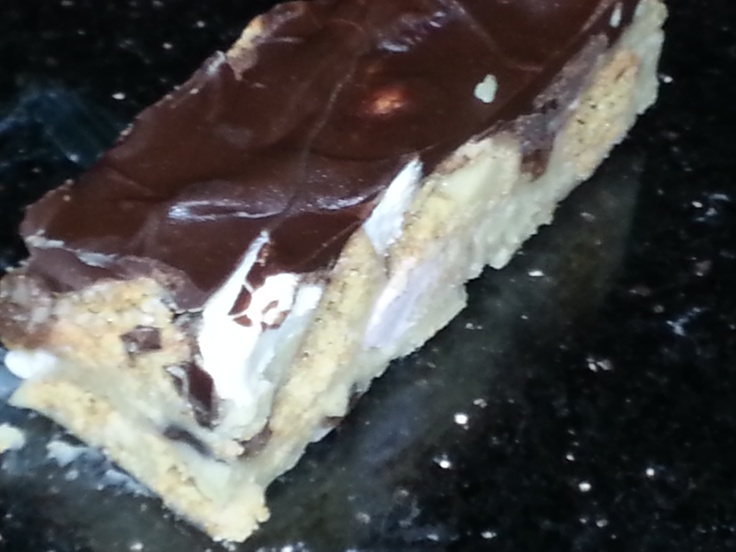 Blonde & Brunette #Amaretto Rocky Road - with fruit soaked in amaretto liqueur