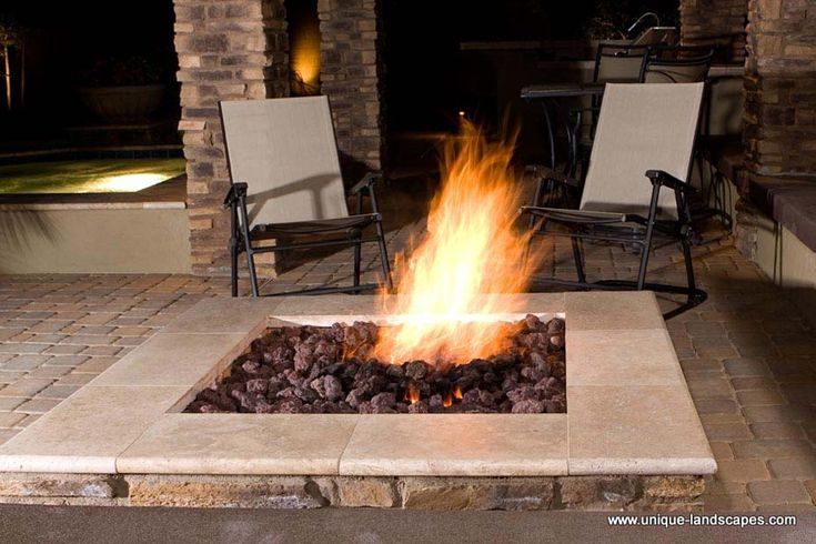 Top 25 ideas about fire pit designs on pinterest fire for Outdoor gas fireplace designs