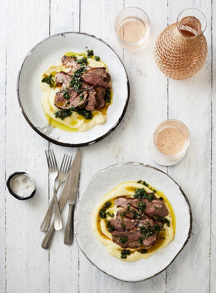 A great weekday alternative to a whole roast, these lamb rumps are quick to cook and go beautifully with the mash and salsa.