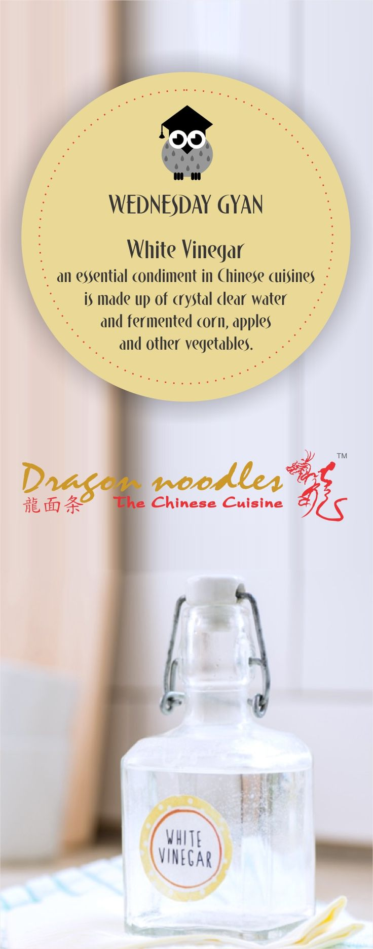 Did you know what is white Vinegar made of? #WhiteVinegar  #WednesdayGyan #DragonNoodles #Chinese #Food #foodies #vaishali #indirapuram