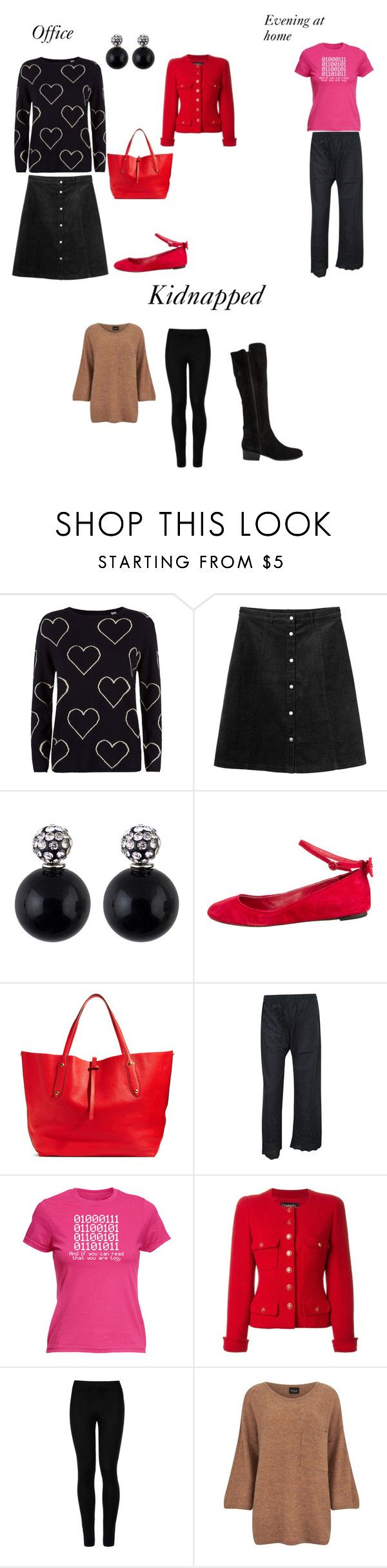 """""""Past and Present"""" by sara-scott-i on Polyvore featuring Chinti and Parker, Monki, Alice + Olivia, Annabel Ingall, Chanel, Wolford, VILA and Steve Madden"""