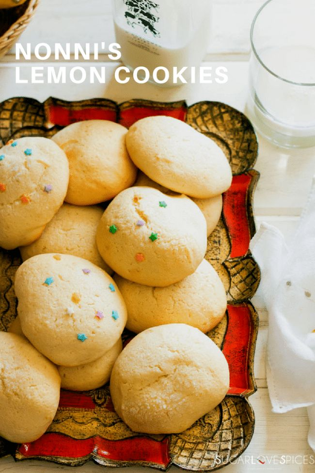 Nonni's Lemon Cookies are these spongy ultra soft lemon flavored cookies that go so well with milk, tea, or a cup of coffee. A perfect European breakfast made by my mother and father with lots of love! #ad