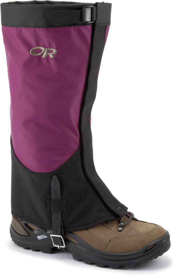Cover ground quickly in the backcountry or blast through a bushwhack approach with the Outdoor Research Verglas gaiters for women. #REIGifts