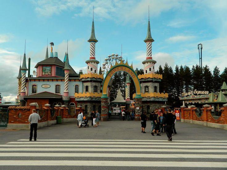 PowerPark amusement park Powerland entrance. Alahärmä Finland,