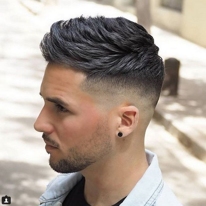 Mens Fade Haircuts With Combination Of Spiky Do Fade