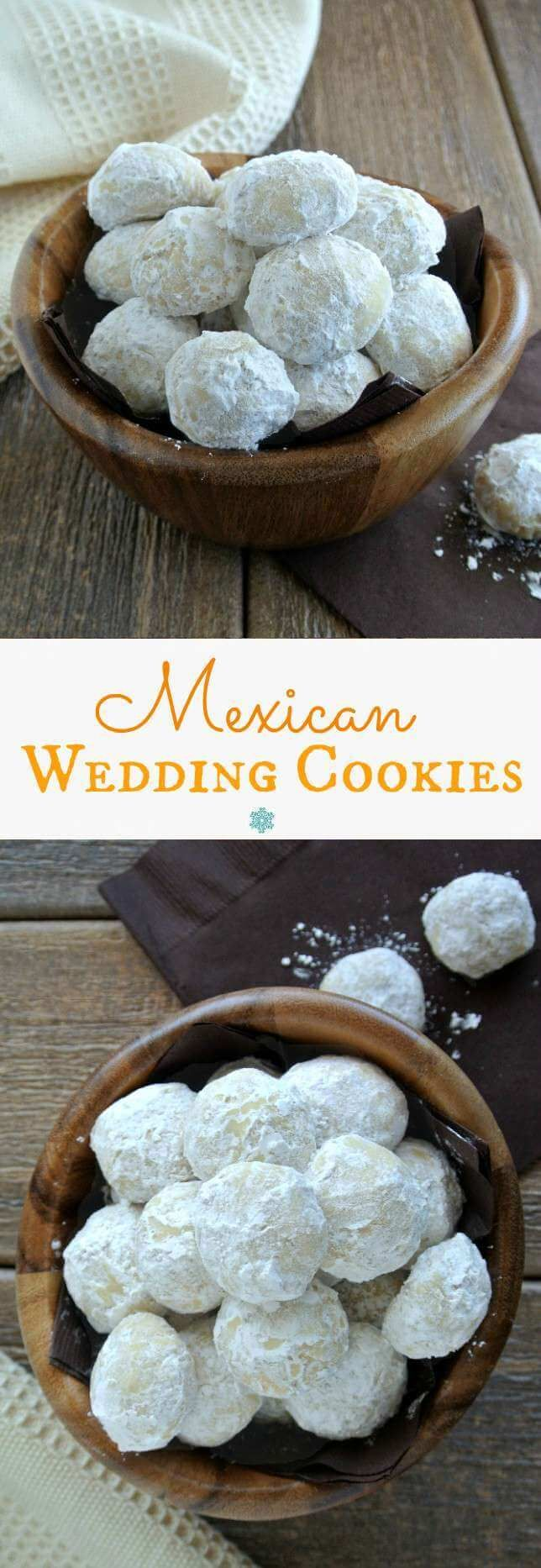 Mexican Wedding Cookies simplicity makes them accessible to everyone - right out of their own oven. Fresh, lightly crunchy and ready to pop in your mouth.