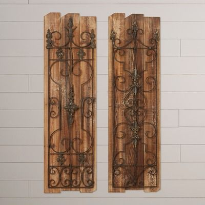August Grove Eudora 2 Piece Enchanting Gate Wall Décor Set & Reviews | Wayfair