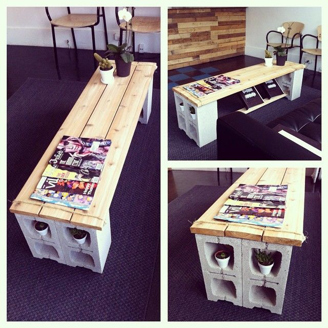 Our DIY coffee table. Come check out our space today!