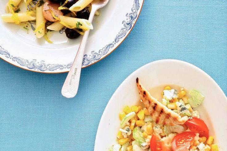 Kijk wat een lekker recept ik heb gevonden op Allerhande! Pasta met worstjes, olijven en citroen